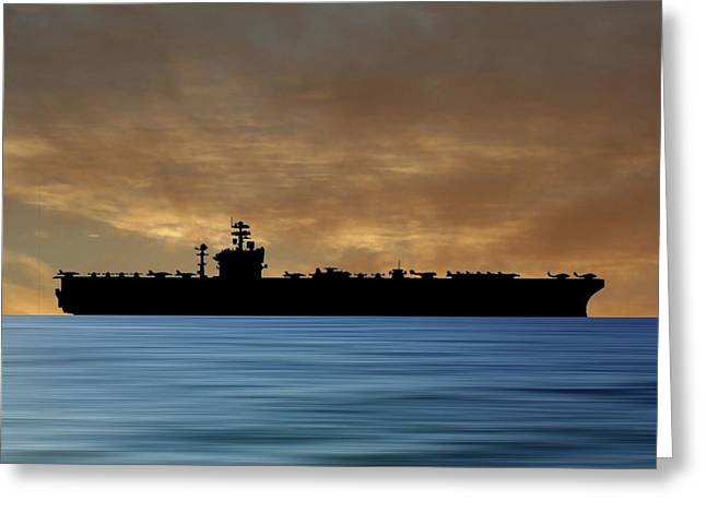 Uss Abraham Lincoln 1988 V2 Greeting Card