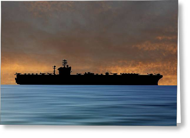 Uss Abraham Lincoln 1988 V3 Greeting Card