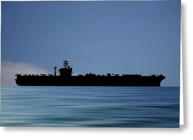 Uss Abraham Lincoln 1988 V4 Greeting Card