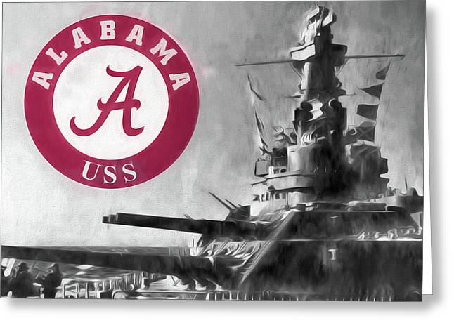 Uss Alabama Crimson Tide Greeting Card