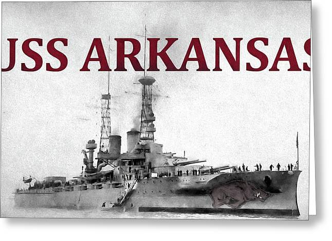 Uss Arkansas Greeting Card by JC Findley