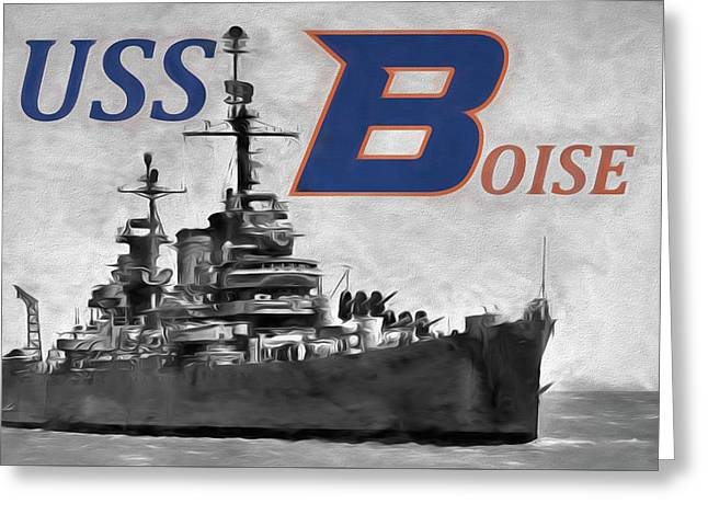 Uss Boise Greeting Card by JC Findley