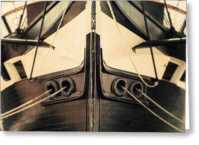 Uss Constellation Greeting Card by Lisa Russo