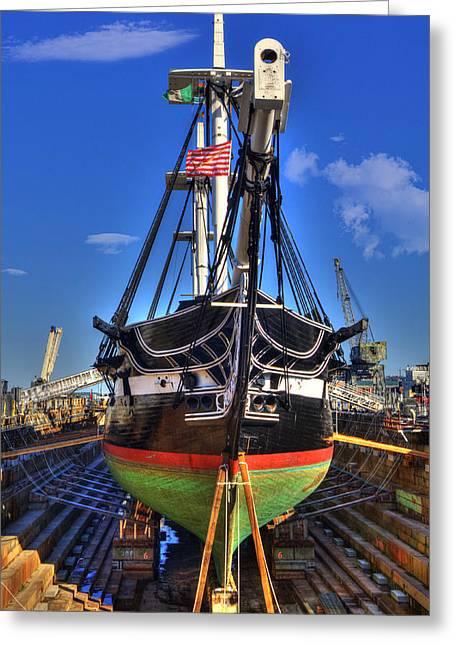 Uss Constitution - Boston Ma Greeting Card by Joann Vitali