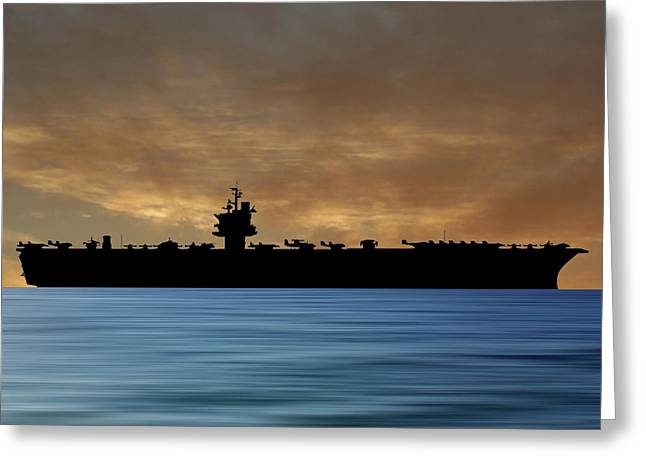 Uss Enterprise 1960 V2 Greeting Card