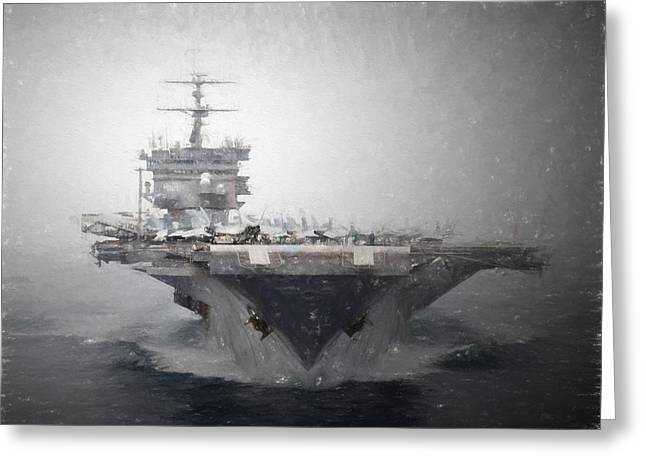 Uss Enterprise Greeting Card by Brian Goodwin