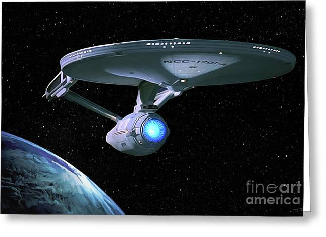 Uss Enterprise Refit Greeting Card