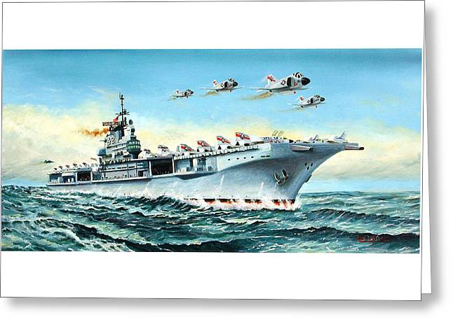 Uss Franklin D. Roosevelt Cva-42 Vietnam Era Greeting Card