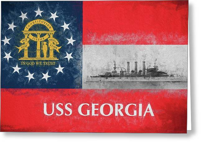 Uss Georgia Flagship Greeting Card by JC Findley