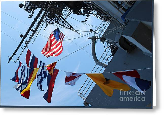Uss Midway Flag Greeting Card
