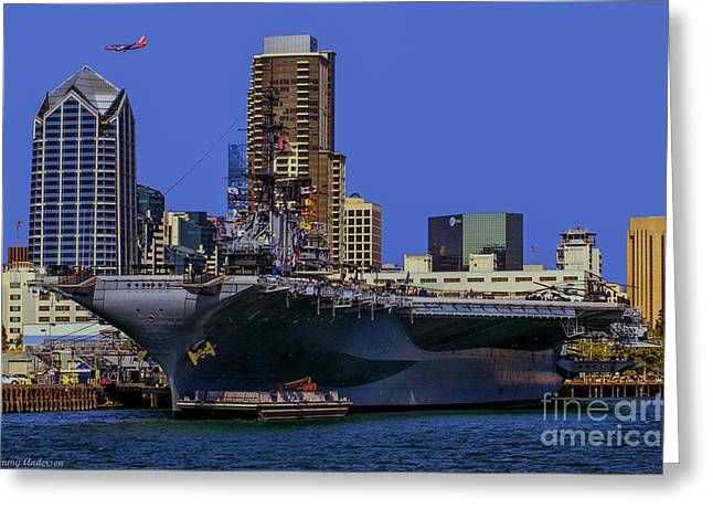Uss Midway San Diego Ca Greeting Card by Tommy Anderson