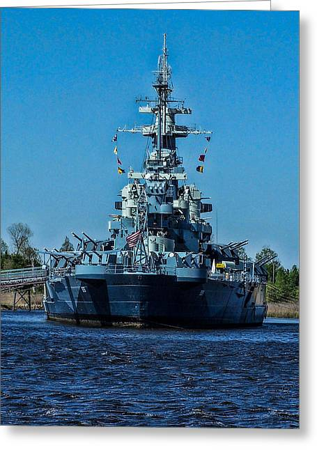 Uss North Carolina 4 Greeting Card by Tommy Anderson