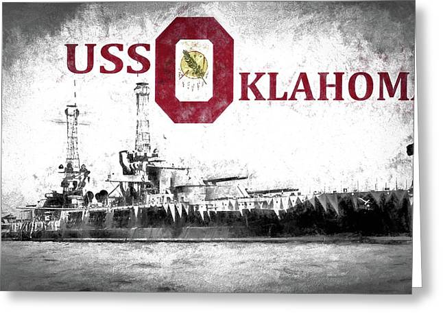 Uss Oklahoma Greeting Card by JC Findley
