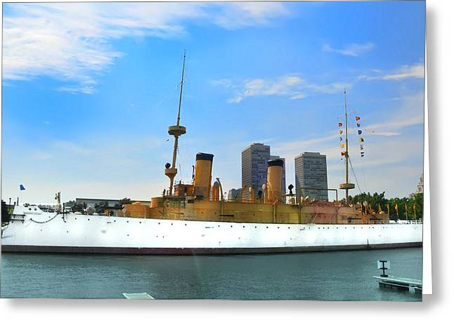 Uss Olympia Greeting Card by Bill Cannon