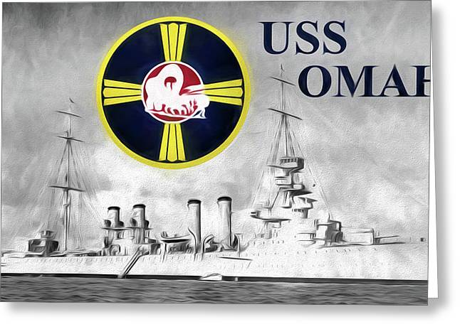 Uss Omaha Greeting Card by JC Findley