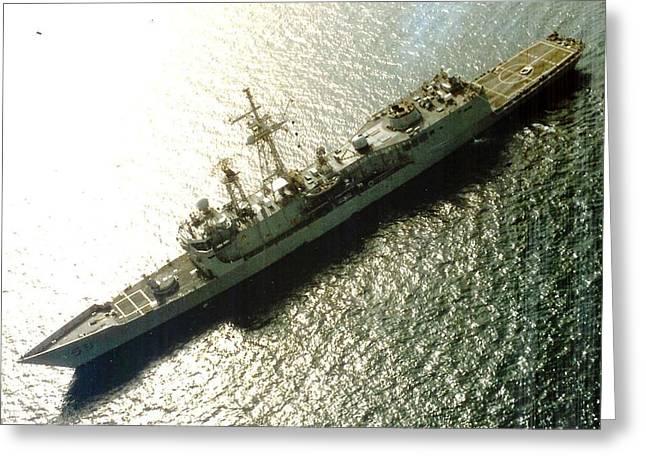 Uss Samuel B Roberts At Sea Greeting Card