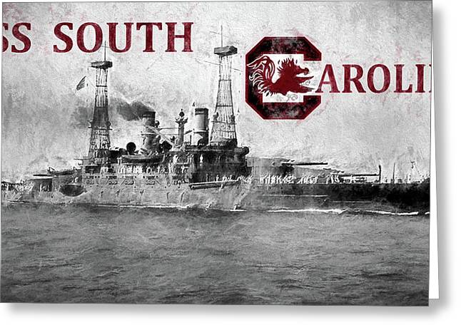 Uss South Carolina Greeting Card