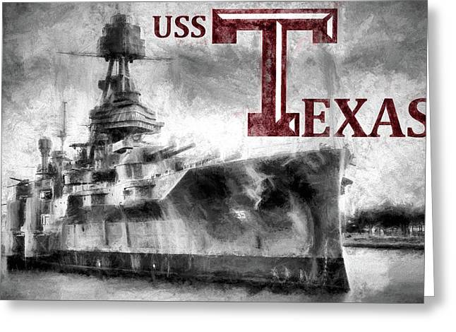 Uss Texas Aggie Style Greeting Card by JC Findley