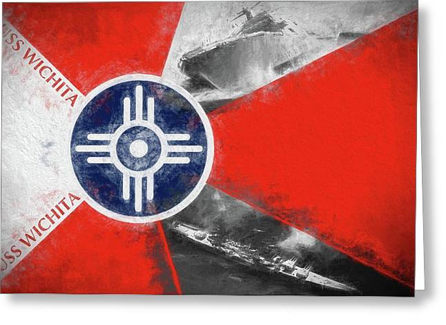 Uss Wichita Greeting Card by JC Findley
