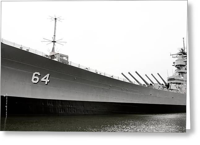 Uss Wisconsin - Port-side Greeting Card