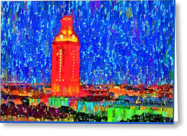 Ut Austin Tower - Da Greeting Card