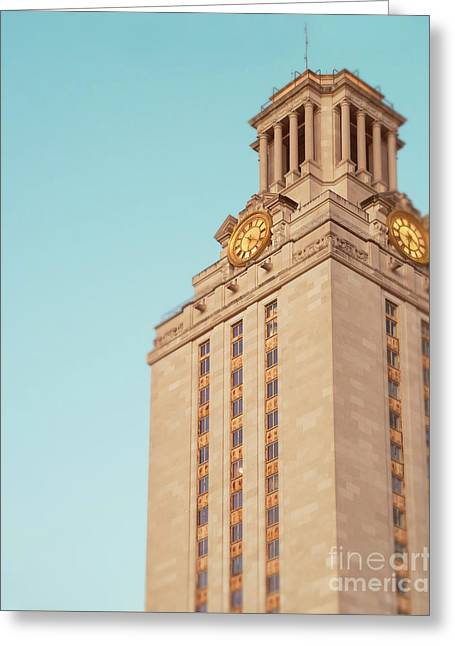 Ut Tower Greeting Card by Sonja Quintero
