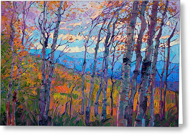 Utah Aspens Greeting Card