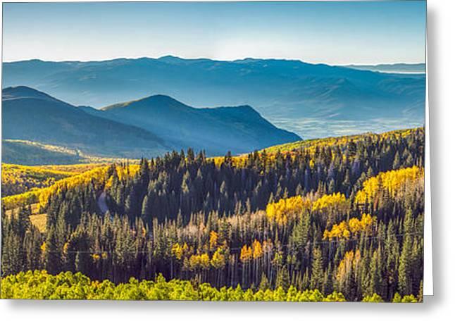 Utah Autumn Panorama Greeting Card