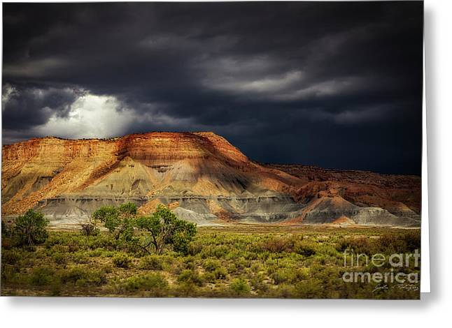 Utah Mountain With Storm Clouds Greeting Card