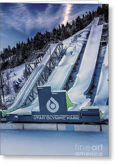 Greeting Card featuring the photograph Utah Olympic Park by David Millenheft