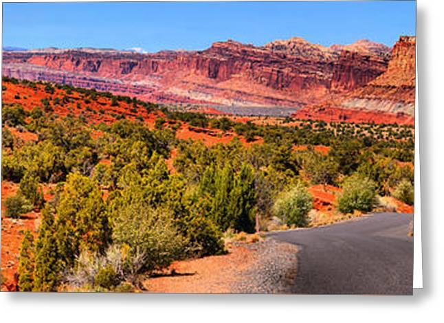 Utah Rainbow Drive Greeting Card