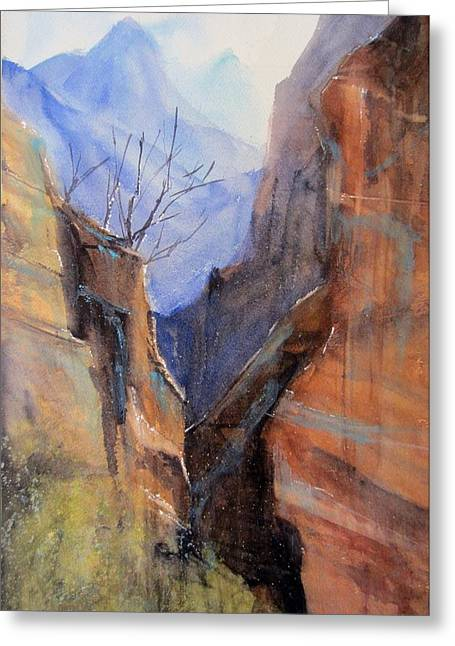 Utah Red Rocks Greeting Card by Sandra Strohschein