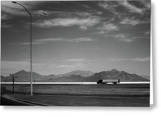 Greeting Card featuring the photograph Utah Salt Flats by Art Shimamura