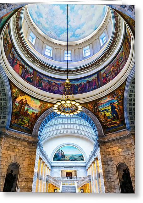 Utah State Capitol Rotunda #2 Greeting Card
