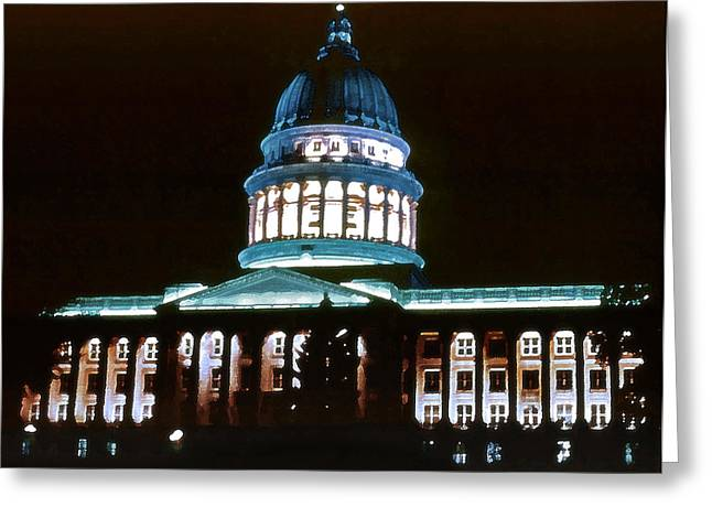 Utah State Capitol Greeting Card by Steve Ohlsen