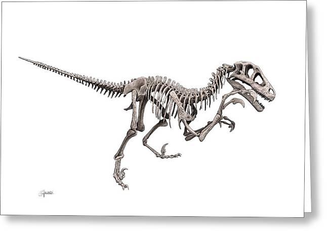 Utahraptor Greeting Card