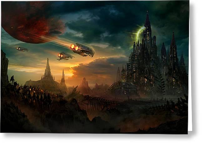 Utherworlds Sosheskaz Falls Greeting Card by Philip Straub