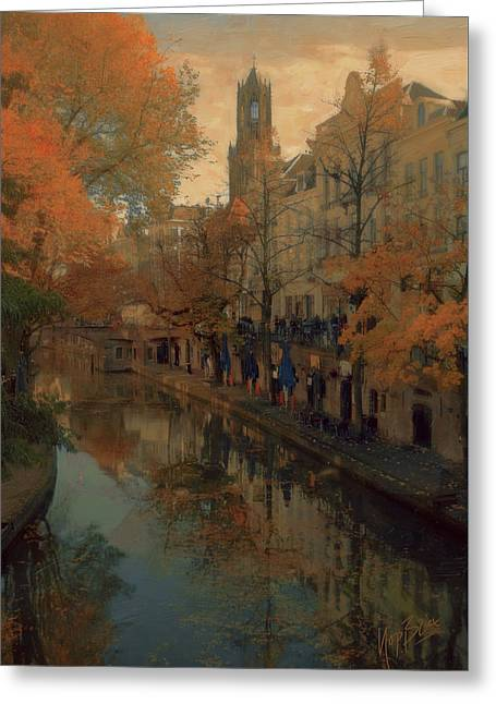 Utrecht In Autumn Greeting Card by Nop Briex