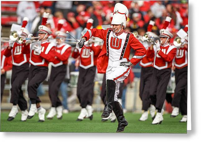 Uw Drum Major Greeting Card by Todd Klassy