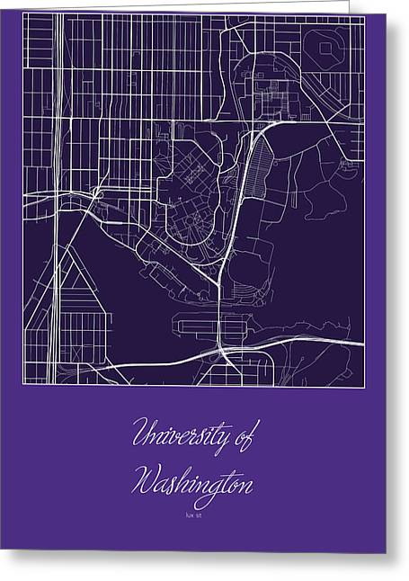 Uw Street Map University Of Washington Seattle Map Digital Art