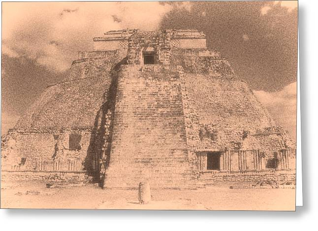 Civilization Greeting Cards - Uxmal Mayan Ruins 2 Greeting Card by Roy Pedersen