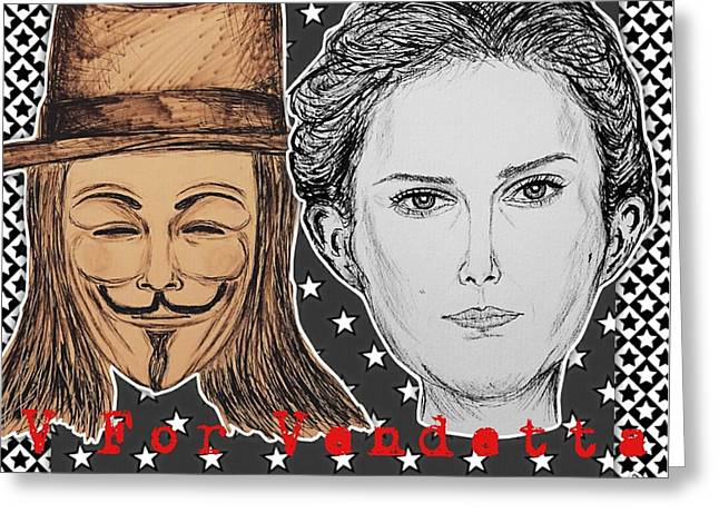 V For Vendetta - We The People Greeting Card