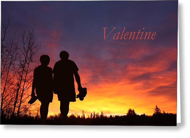 V4-into The Sunset Greeting Card