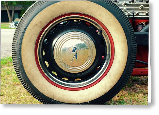 V8 Hot Rod Tire Greeting Card by Jason Freedman