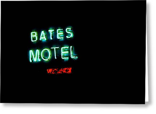 Vacancy At Bates Motel Greeting Card by Denise Dube