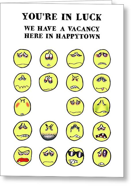 Vacancy In Happytown Greeting Card