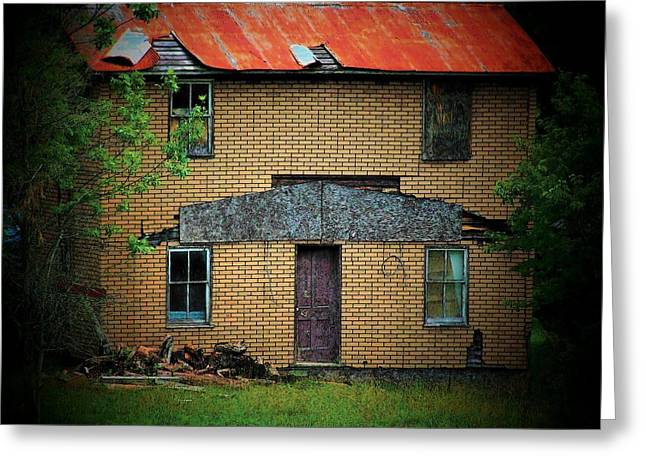 Vacant House Greeting Card by Michael L Kimble