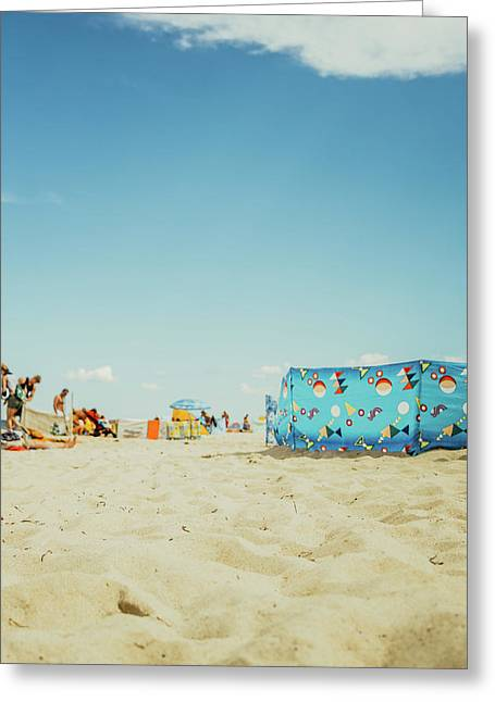Vacation At The Polish Beach Greeting Card