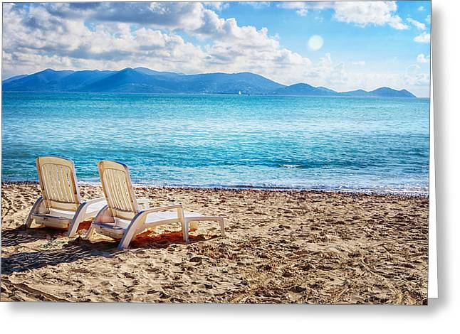 Vacation Spot Greeting Card by Camille Lopez