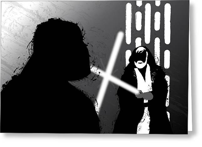 Vader Vs Obi-wan Kenobi Greeting Card
